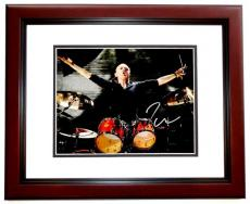 Lars Ulrich Signed - Autographed METALLICA Drummer Concert 11x14 inch Photo MAHOGANY CUSTOM FRAME - Guaranteed to pass PSA or JSA