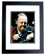 Lars Ulrich Signed - Autographed METALLICA Drummer Concert 8x10 inch Photo BLACK CUSTOM FRAME - Guaranteed to pass PSA or JSA
