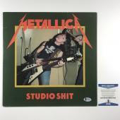 Lars Ulrich Signed Metallica Album Cover W/ Vinyl Authentic Bas Coa #e61129