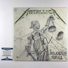 Lars Ulrich Signed Metallica And Justice For All Album Cover Bas Coa #e61130
