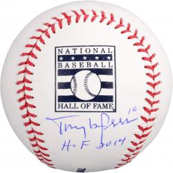 Tony La Russa St. Louis Cardinals Autographed HOF Logo Baseball with HOF 14 Inscription - Mounted Memories - Mounted Memories