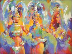 Las Vegas Show Girls Original Artwork