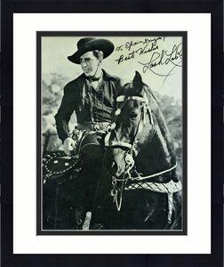 Lash Larue Cowboy Psadna Coa Signed 8x10 Photo Authenticated Autograph