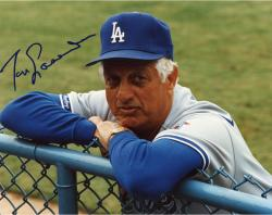 Tommy Lasorda Autographed Dodgers 8x10 Photo