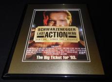 Last Action Hero 1993 Framed 11x14 ORIGINAL Advertisement Arnold Schwarzenegger
