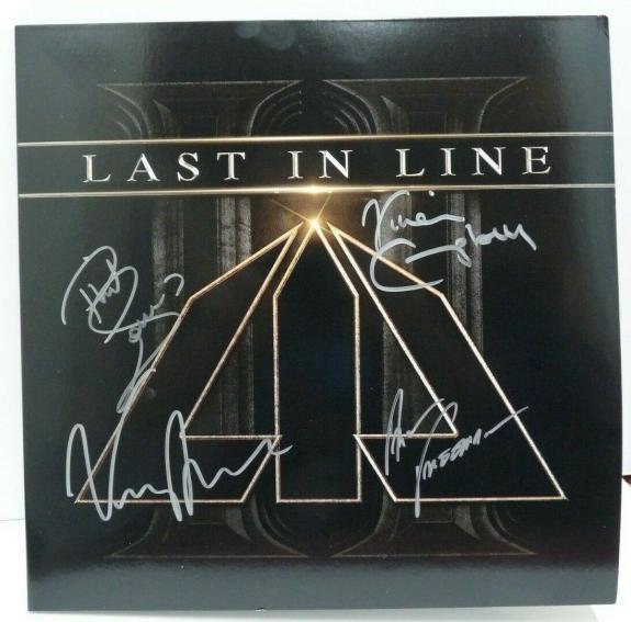 Last In Line Autographed Signed LP Cover PSA Beckett Guaranteed Vivian Campbell