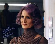 "Laura Dern Star Wars The Last Jedi Autographed 8"" x 10"" as Vice Admiral Holdo Photograph - BAS"
