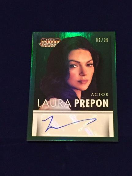 Laura Prepon Orange Is 2015 Panini Americana Signed Autograph Green Foil Card
