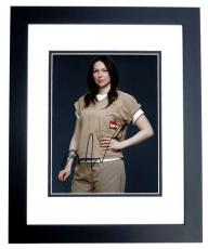 Laura Prepon Signed - Autographed Orange is the new Black 8x10 inch Photo BLACK CUSTOM FRAME - Guaranteed to pass PSA or JSA - That 70's Show Actress