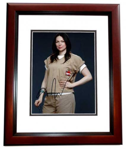 Laura Prepon Signed - Autographed Orange is the new Black 8x10 inch Photo MAHOGANY CUSTOM FRAME - Guaranteed to pass PSA or JSA - That 70's Show Actress