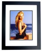 Laura Prepon Signed - Autographed Sexy Swimsuit 8x10 inch Photo BLACK CUSTOM FRAME - Guaranteed to pass PSA or JSA - Orange is the new Black -That 70's Show Actress