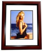 Laura Prepon Signed - Autographed Sexy Swimsuit 8x10 inch Photo MAHOGANY CUSTOM FRAME - Guaranteed to pass PSA or JSA - Orange is the new Black -That 70's Show Actress