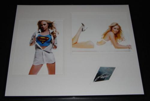 Laura Vandervoort Signed Framed 16x20 Photo Set Smallville V