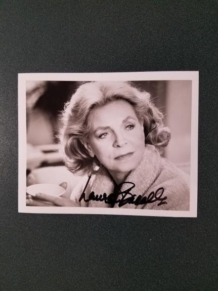 Lauren Bacall autographed Photograph(pose 3) - coa