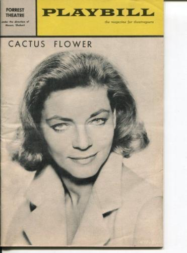 Lauren Bacall Barry Nelson Brenda Vaccaro Arny Freeman Cactus Flower Playbill
