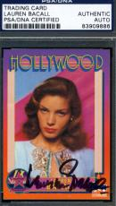 Lauren Bacall Hand Signed Psa/dna Coa 1991 Starline Card Authenticated Autograph