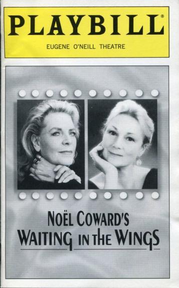 Lauren Bacall Rosemary Harris Noel Coward Waiting In The Wings Playbill