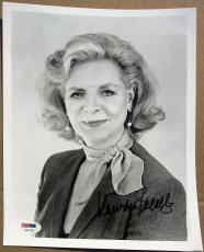 Lauren Bacall signed 8x10 photo PSA/DNA Humphrey Bogart Wife Legendary Actress