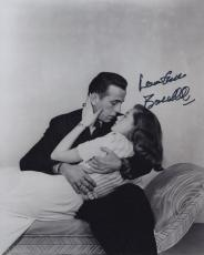 Lauren Bacall Signed Autographed Bw 8x10 Photo With Humphrey Bogart Wow!!!