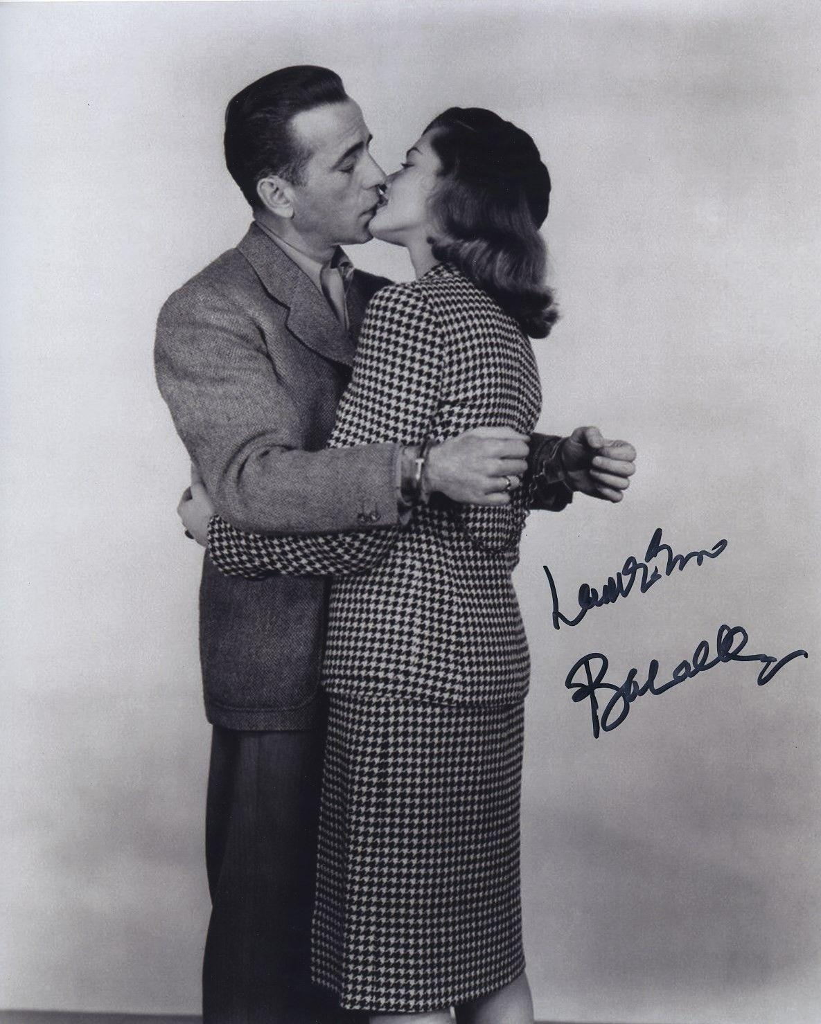 Lauren Bacall Signed Autographed Bw 8x10 Photo With
