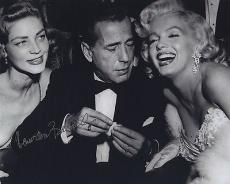 Lauren Bacall Signed Autographed Photo Humphrey Bogart Marilyn Monroe