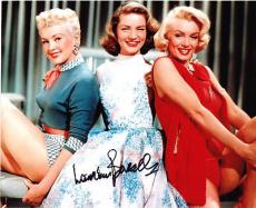 Lauren Bacall Signed Photo With Marilyn Monroe JSA COA!