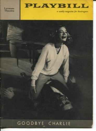 Lauren Bacall Sydney Chaplin Sarah Marshall Goodbye Charlie 1959 Playbill