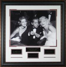 Lauren Bacall unsigned Hollywood Legends Engraved Signature Series 30x30 Leather Framed Photo (movie/entertainment)