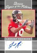 Laurent Robinson autographed Football Card (Atlanta Falcons) 2007 Bowman Signs of the Future Rookie #SFLR