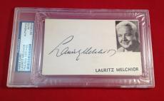 Lauritz Melghior signed Index Card Slabbed PSA/DNA #83108024