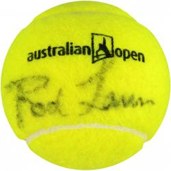 Rod Laver Autographed Australian Open Logo Tennis Ball