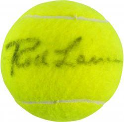 Rod Laver Autographed Wimbledon Logo Tennis Ball
