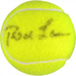 Rod Laver & Andre Agassi Dual Autographed Wimbledon Logo Tennis Ball