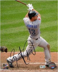 "Brett Lawrie Toronto Blue Jays Autographed 8"" x 10"" Swing Follow Through Photograph"