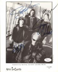 "LAYNE STALEY, Cantrell, Inez & Kinney Signed ""ALICE IN CHAINS"" 8x10 Photo JSA"