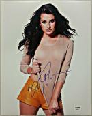 Lea Michele Autograph GLEE SCREAM QUEENS Signed 11x14 Photo PSA/DNA COA #7