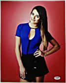 Lea Michele Autograph GLEE SCREAM QUEENS Signed 11x14 Photo PSA/DNA COA #8