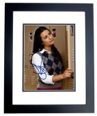 Lea Michele Signed - Autographed GLEE 8x10 inch Photo BLACK CUSTOM FRAME - Guaranteed to pass PSA or JSA