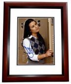 Lea Michele Signed - Autographed GLEE 8x10 inch Photo MAHOGANY CUSTOM FRAME - Guaranteed to pass PSA or JSA