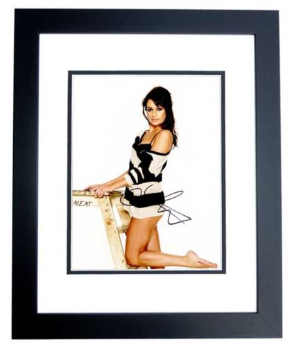 Lea Michele Signed - Autographed GLEE Actress 8x10 inch Photo BLACK CUSTOM FRAME - Guaranteed to pass PSA or JSA