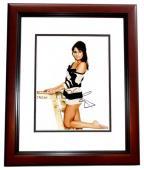 Lea Michele Signed - Autographed GLEE Actress 8x10 inch Photo MAHOGANY CUSTOM FRAME - Guaranteed to pass PSA or JSA