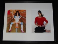 Lea Michele Signed Framed 16x20 Photo Set Glee B