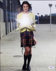 Lea Michelle Glee Signed 11X14 Photo Autographed PSA/DNA #M97341