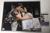 LEA THOMPSON & TOM WILSON signed 11x14 Photo BIFF BTTF Back to the Future JSA