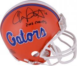 Chris Leak Florida Gators Autographed Riddell Mini Helmet with Champs Inscription