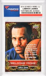LeBron James Cleveland Cavaliers 2014 Upper Deck National Convention #Home-LJ Card Limited Edition Redemption from the 2014 National Sports Collector's Convention