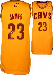 LeBron James Cleveland Cavaliers Autographed Authentic Mustard Jersey