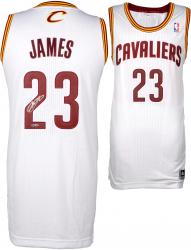 LeBron James Cleveland Cavaliers Autographed Authentic White Jersey