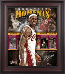 "LeBron James Cleveland Cavaliers Framed Greatest Moments 20"" x 24"" Collage"