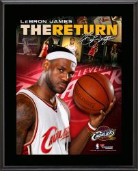 "LeBron James Cleveland Cavaliers The Return 10"" x 13"" Sublimated Plaque"